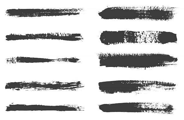 Grunge brush stroke collection Premium Vector