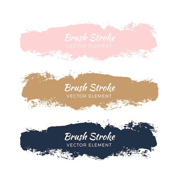 Абстрактная акварель grunge brush stroke set Бесплатные векторы
