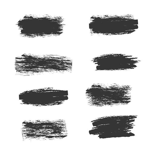 Grunge brushes collection Free Vector