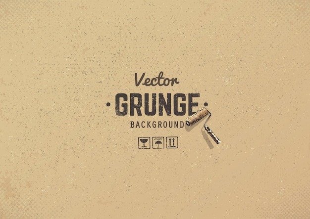 Grunge cardboard background Free Vector