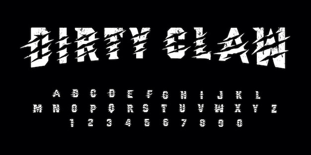Download Grunge dirty claw font pack | Premium Vector