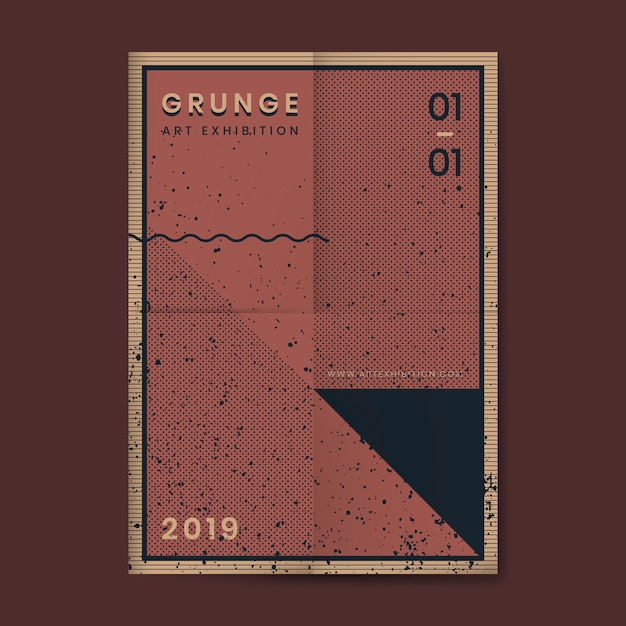 Grunge distressed texture poster Free Vector