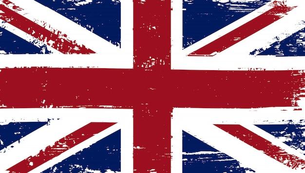 グランジ苦しめられた英国の旗 Premiumベクター