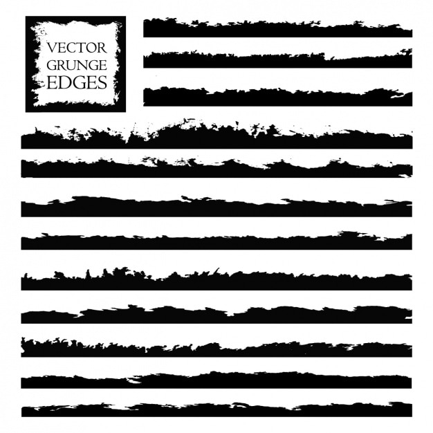 Grunge edges collection Free Vector