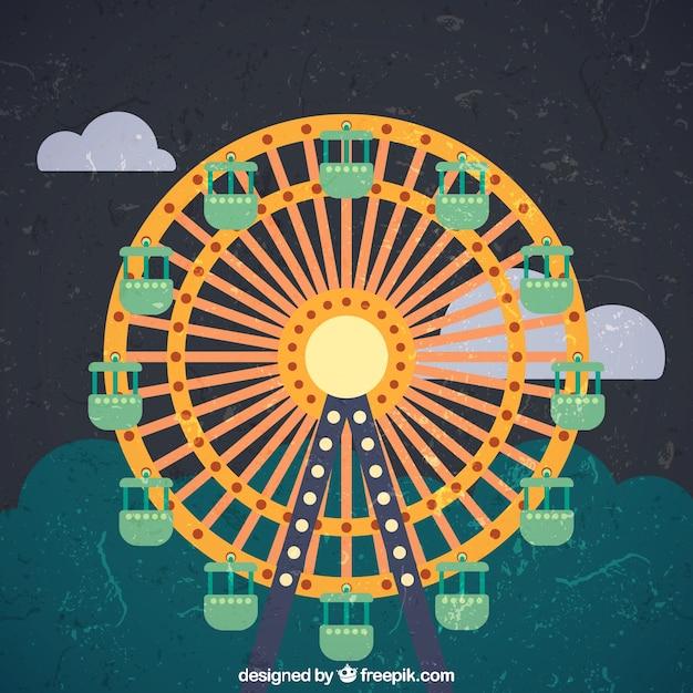 Grunge ferris w... Ferris Wheel Vector Free Download