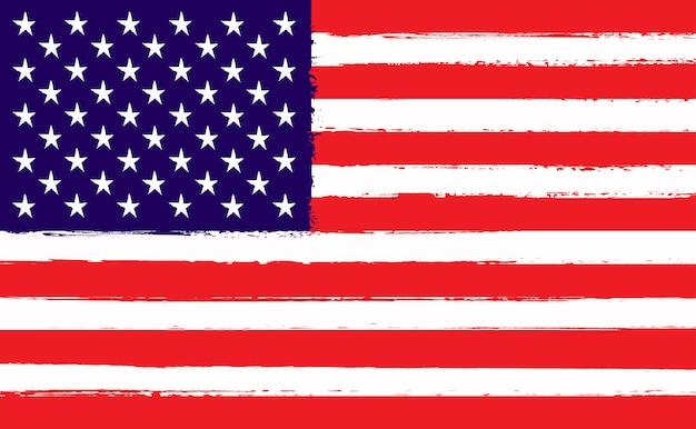 アメリカ合衆国のグランジフラグ Premiumベクター