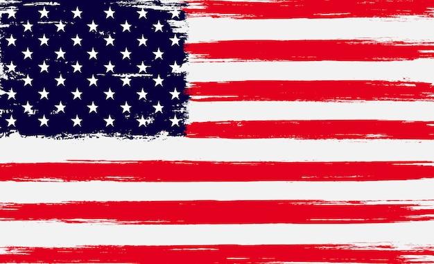アメリカのグランジフラグ Premiumベクター