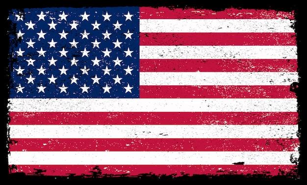 Grunge flag of united states Premium Vector