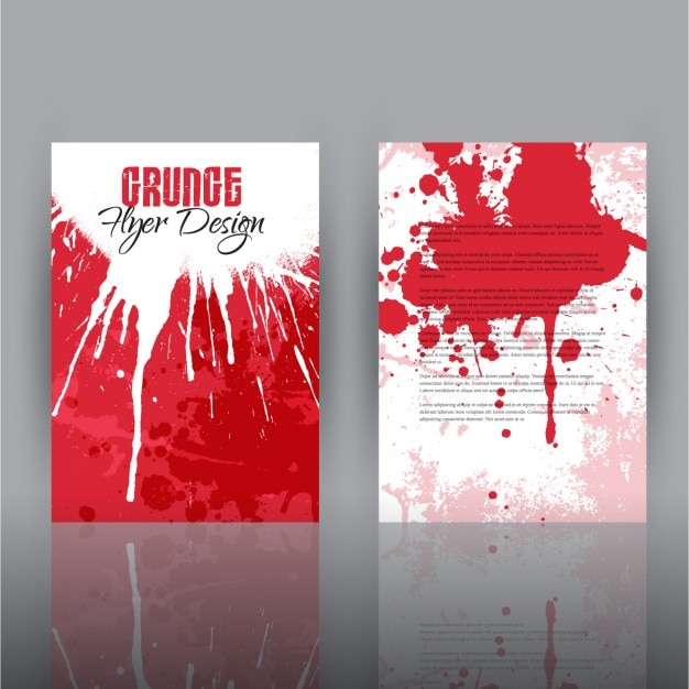 Grunge Flyer Design Template Vector | Free Download