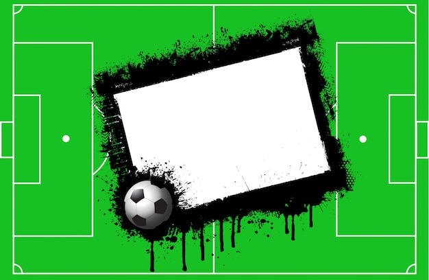 Grunge football pitch background with space for\ text