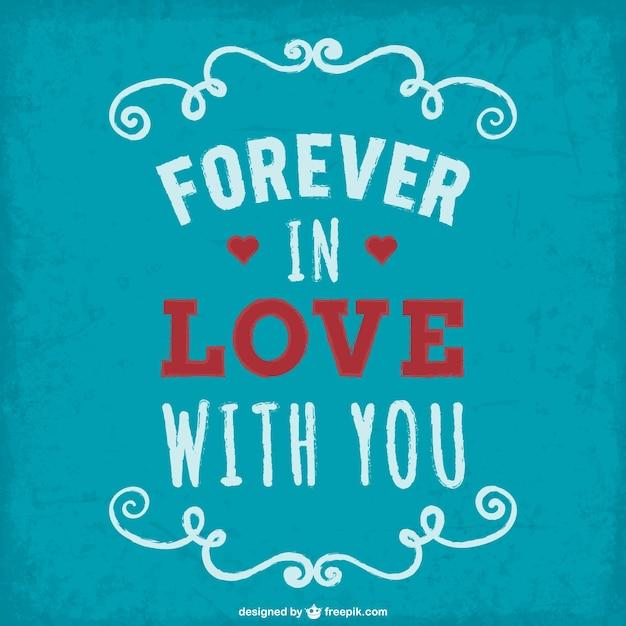Grunge forever in love vector