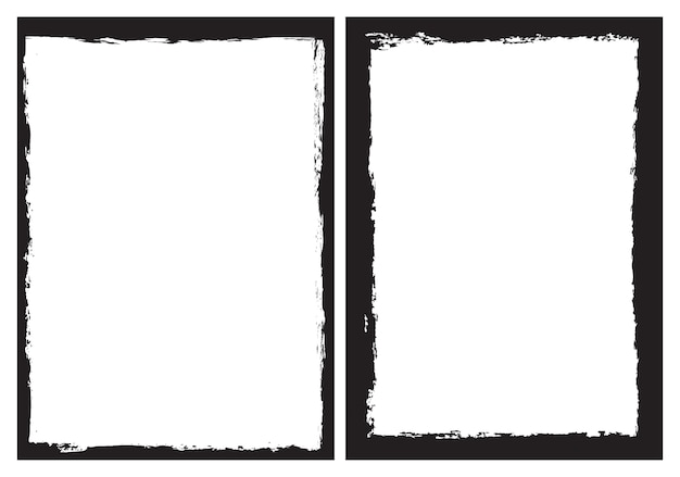 Grunge frame background Premium Vector