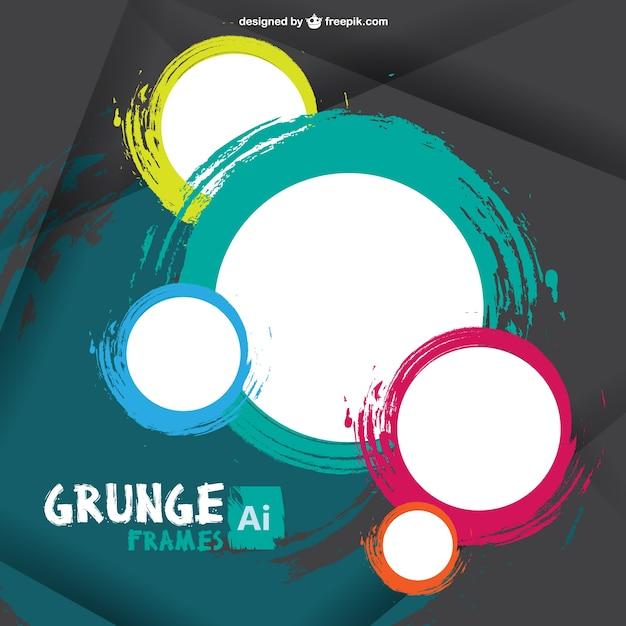 Grunge Frames Vector Free Download