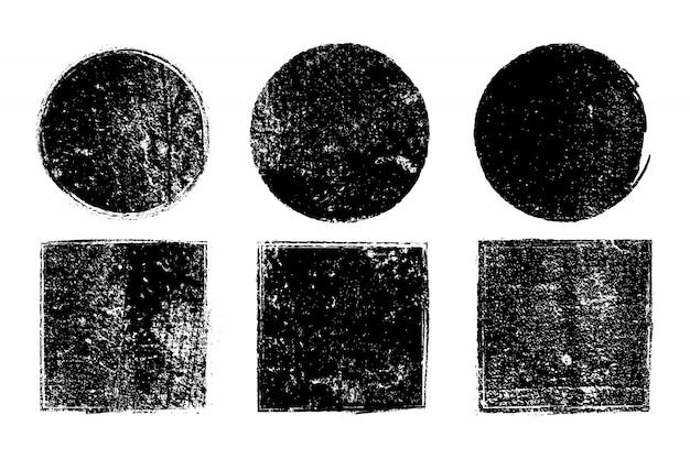 Grunge геометрические фигуры collecti Бесплатные векторы