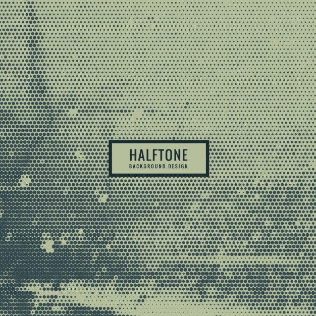 grunge halftone background Free Vector