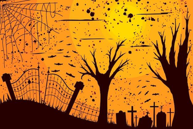 Хэллоуин стиль фона гранж Бесплатные векторы