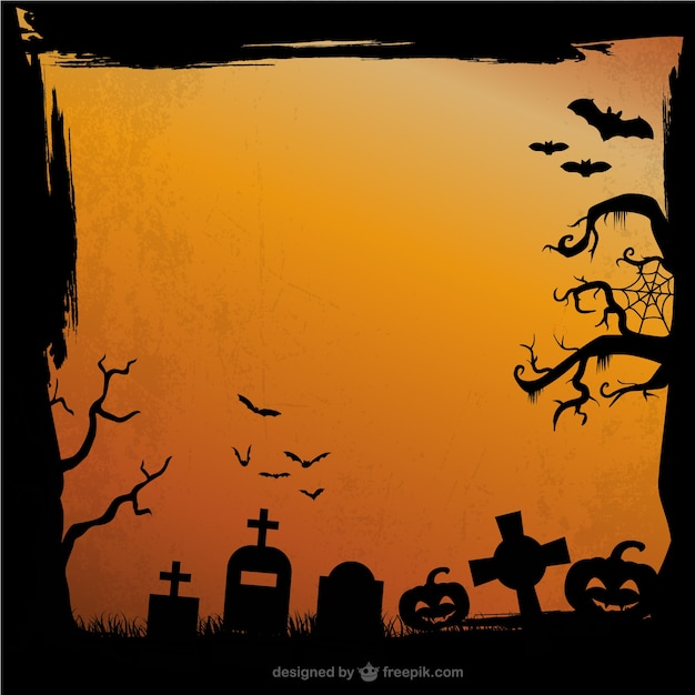 grunge halloween background free vector - Show Me Halloween Pictures