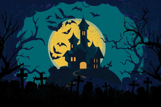 Grunge halloween background Premium Vector