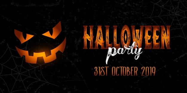 Grunge halloween banner Free Vector