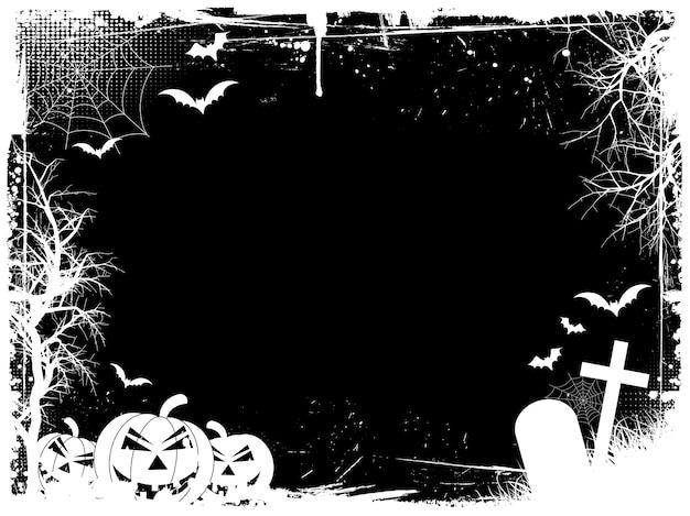 Bordo di halloween del grunge Vettore gratuito