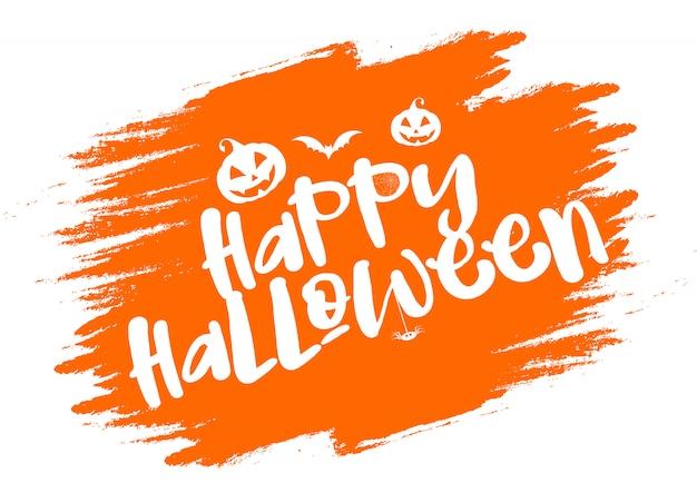 Grunge halloween typography background Free Vector
