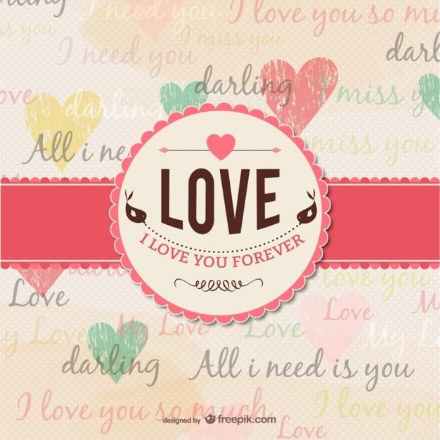 Grunge love card