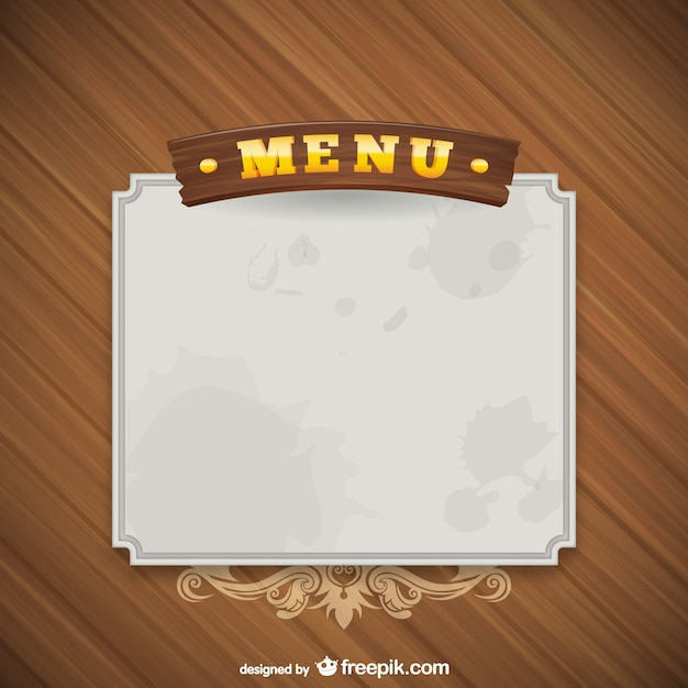 Grunge Menu Template Vector | Free Download