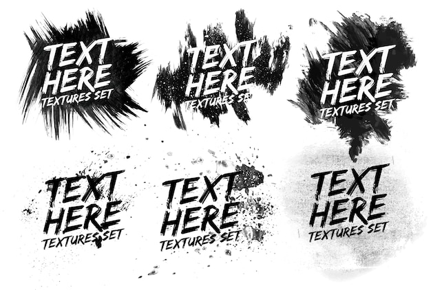Grunge monochrome painted abstract pattern background Free Vector