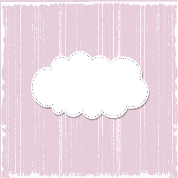 Гранж розовый шаблон фон с речи пузырь Бесплатные векторы