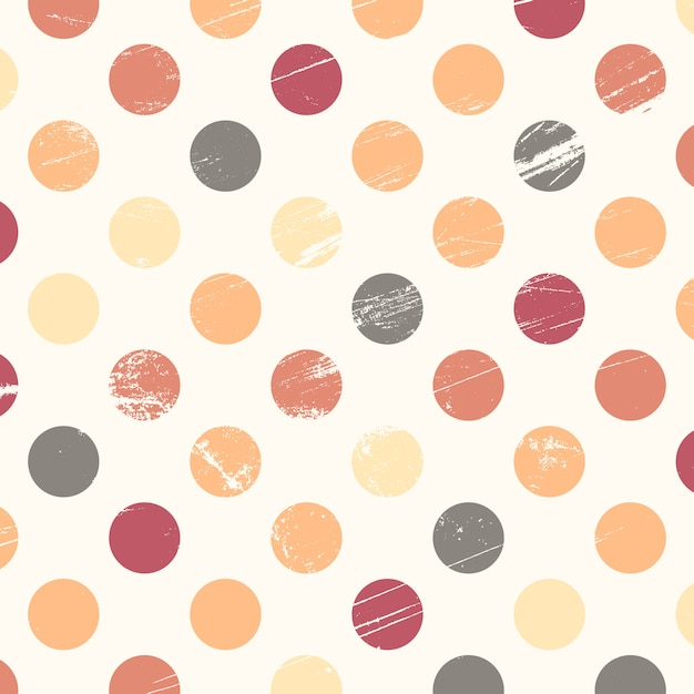 Grunge polka dot background Free Vector
