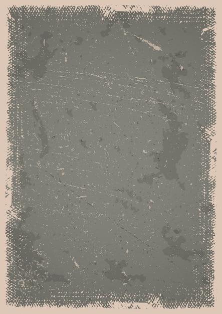 Гранж-постер-фон с царапинами, пятнами и текстурированной рамкой Бесплатные векторы