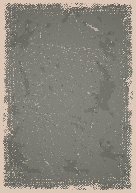 Grunge poster background with scratches, spots and textured frame Free Vector