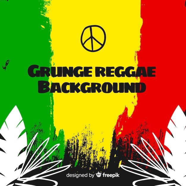 Grunge reggae-style background Free Vector