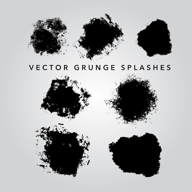 Grunge splashes collection Free Vector