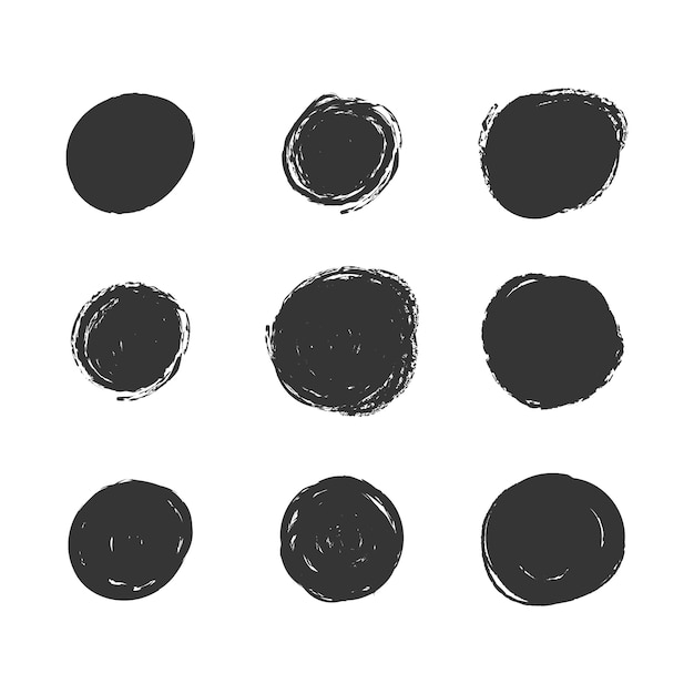 Grunge spots collection Free Vector