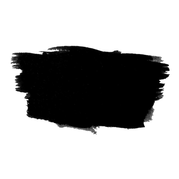 Grunge stroke of ink Free Vector