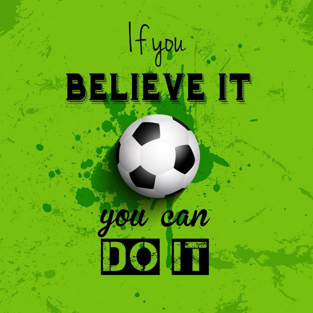 Grunge style football inspirational\ quote