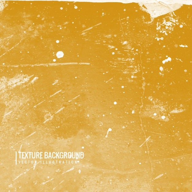 Grunge texture background in yellow color Free Vector