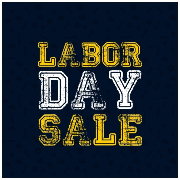 Labor Day Sale: Grunge Typography Labor Day Sale Poster Vector