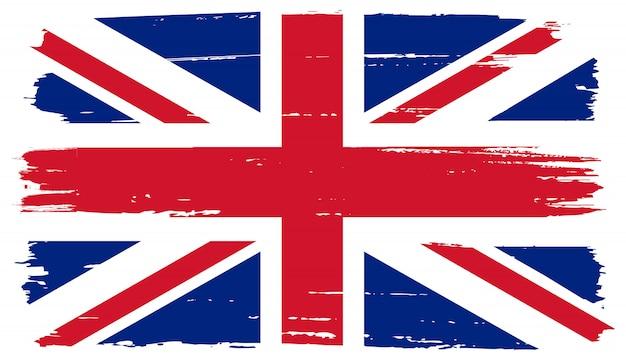 Флаг соединенного королевства гранж Premium векторы