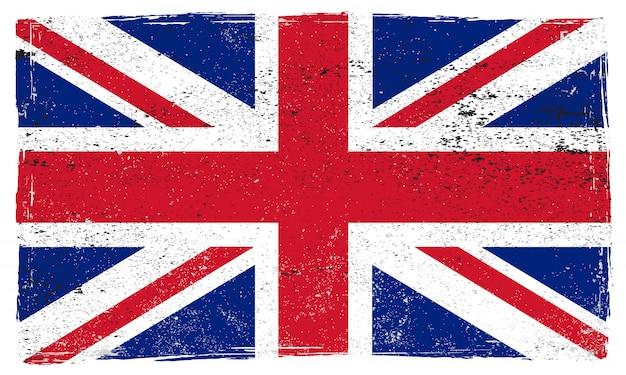Grunge united kingdom flag Premium Vector