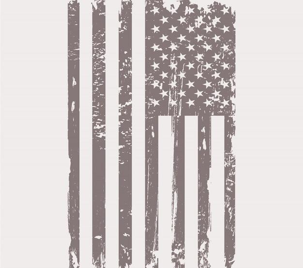 Grunge usa flag background Premium Vector