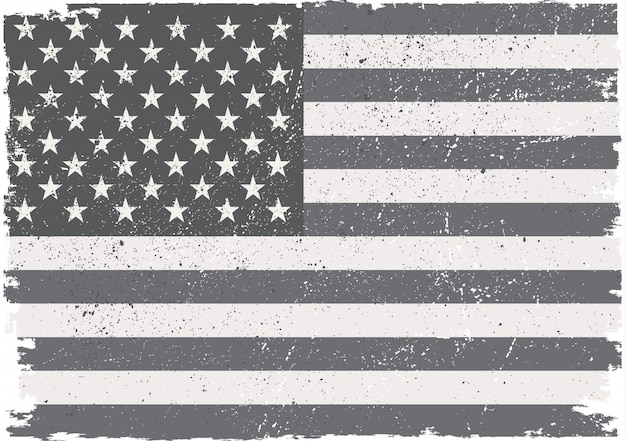 Grunge usa flag Premium Vector