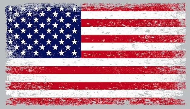 グランジヴィンテージアメリカ国旗 Premiumベクター