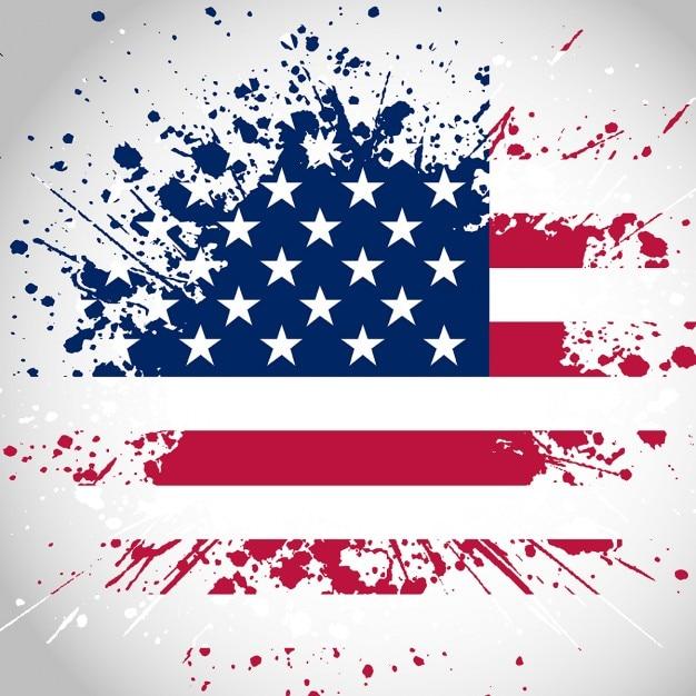 Grunge стиль фона американский флаг Бесплатные векторы