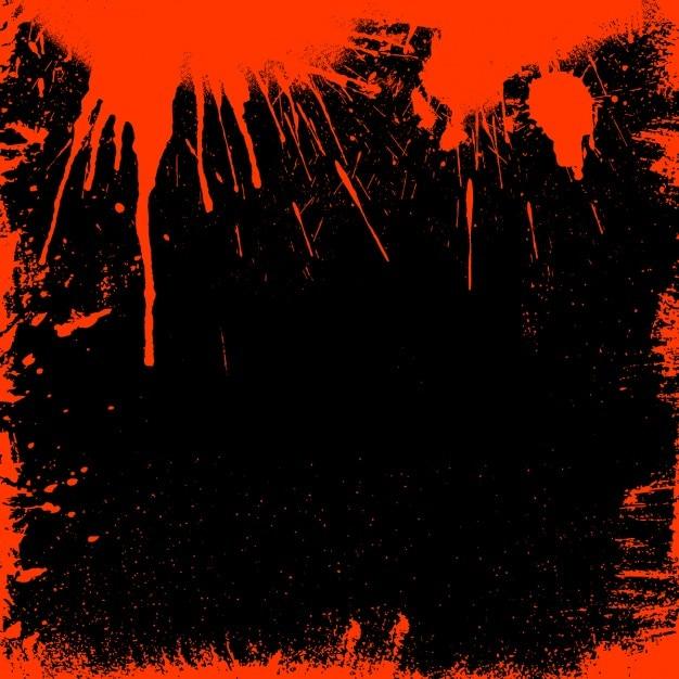 Grunge стиль кровавый границы идеально подходит для хэллоуина Бесплатные векторы