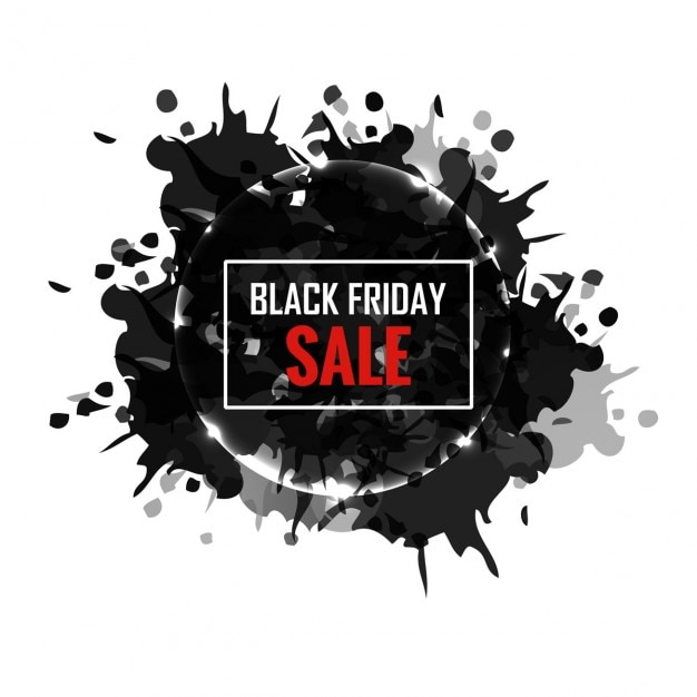 Grungy black friday sale background | Free Vector