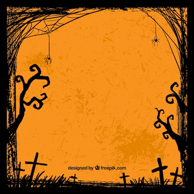 Grungy Halloween Background Vector Premium Download