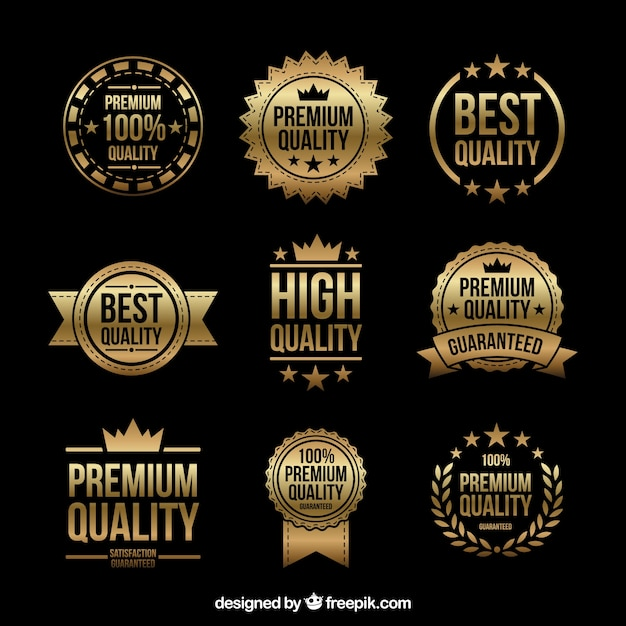 Guarantee golden label collection Free Vector