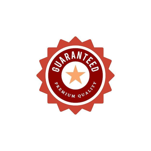 Guaranteed premium quality stamp illustration Free Vector